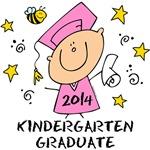 Cute Girl Kindergarten Grad 2014