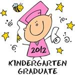 Cute Girl Kindergarten Grad 2012