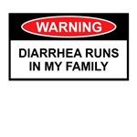 Funny slogan Diarrhea Warning Sign Shirts