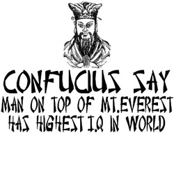 Confucius say IQ clothing gifts