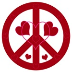 Peace with hearts
