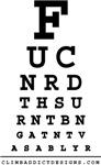 Climbers Eye Chart