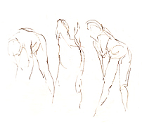 3 Nudes Drawing