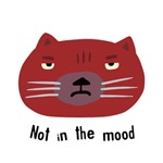 Red Not in the Mood Cat