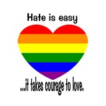 It takes courage to love.