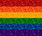 Rainbow Pixel Flag
