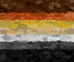 Bear Paint Splatter Flag