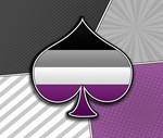 Halftone Asexual Pride Symbol
