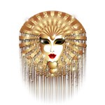 Golden Venice Carnival Mask