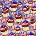 USA Flag Cupcakes Pattern