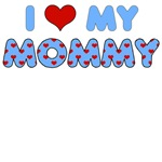 Mother's Day: I Love My Mommy Blue Heart Letters