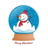 Snow Man inside Christmas Globe