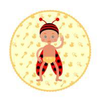 Cute baby ladybug