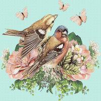 Flower Bird Vintage Paper