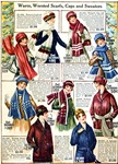 1910s Winter Scarves & Sweaters