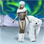 Lady and Polar Bear