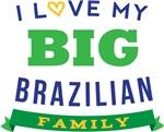I Love My Big Brazilian Family T-shirts