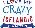 I Love My Crazy Icelandic Family Tshirts
