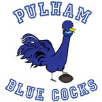 Pulham Blue Cocks Logo (front). Quotes back.