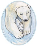 quiet time mom & baby polar bear