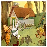 ALICE IN THE RABBIT'S HOUSE