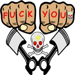 Fuck You Fists Skull