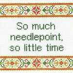 So Much Needlepoint