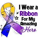 Bladder Cancer Ribbon For My Amazing Hero Shirts