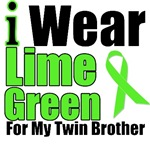 I Wear Lime Green Ribbon For My Twin Brother