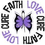 Hodgkin's Lymphoma FAITH LOVE CURE Shirts & Gifts