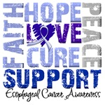 Collage Hope Cure Esophageal Cancer Shirts