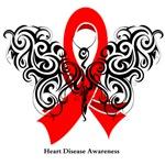 Heart Disease Tribal Butterfly Shirts
