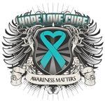 Hope Love Cure Peritoneal Cancer Shirts