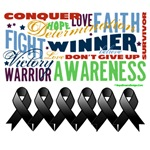 Empowering Words Melanoma Shirts and Gifts