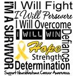 Neuroblastoma Cancer Persevere Shirts
