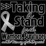 Taking a Stand Brain Cancer Shirts
