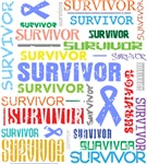 Survivor Colorful Esophageal Cancer Shirts