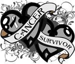 Carcinoid Cancer Survivor Double Hearts Shirts
