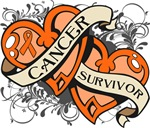 Kidney Cancer Survivor Double Hearts Shirts