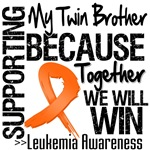 Supporting My Twin Brother Leukemia Shirts