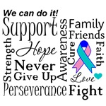 Thyroid Cancer Supportive Words Shirts and Gifts