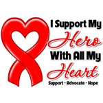 I Support My Hero Heart Disease Shirts and Gifts