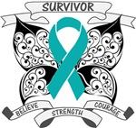 Ovarian Cancer Survivor Butterfly Shirts