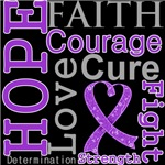 Hope Faith Courage Pancreatic Cancer Shirts