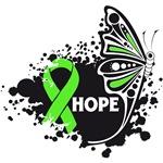 Hope Grunge Butterfly Non-Hodgkins Lymphoma Shirts