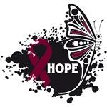 Hope Grunge Butterfly Multiple Myeloma Shirts