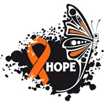 Hope Grunge Butterfly Kidney Cancer Shirts