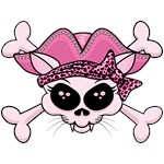 Pretty Pirate Kitty Skull