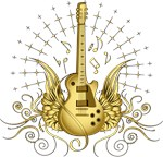 Golden Winged Guitar