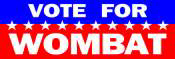Vote for Wombat